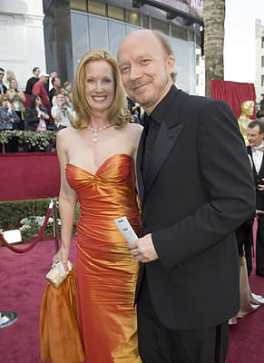 Paul Haggis Right Academy Award Winner For Best Original Screenplay And Picture With His Wife Deborah Arriving At The 78th Annual