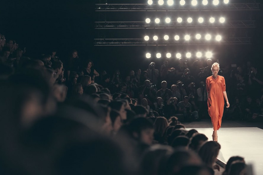 Lena Karnauhova at Mercedes-Benz Fashion Week Russia
