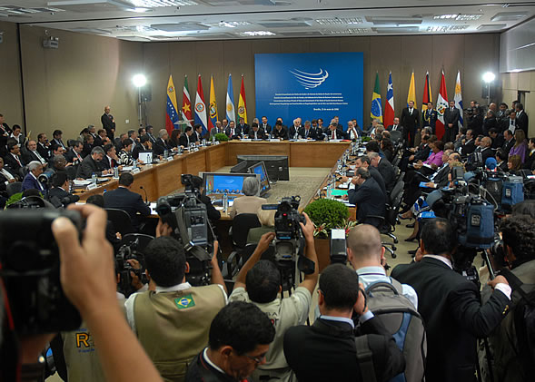 UNASUR countries meeting in Brasília
