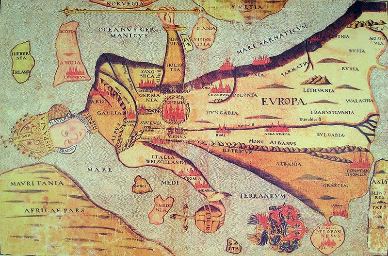Europa Regina / Queen Europe map