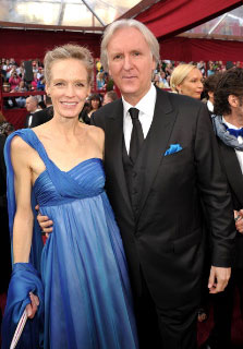 Suzy Amis Cameron and James Cameron at the Oscars, Mar 7, 2010