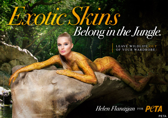 Helen Flanagan PETA campaign | Animal Ethics
