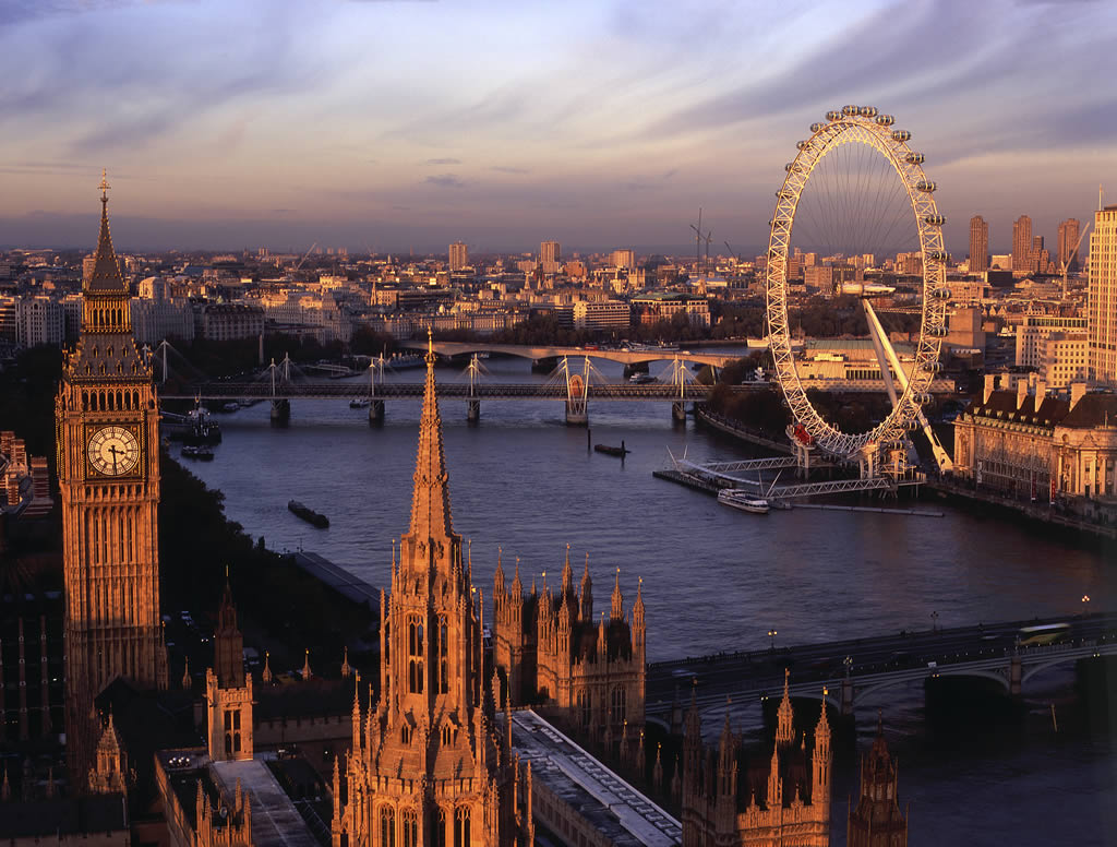 View from the top of the Victoria Tower Westminster, London, England. cVisitBritain - James McCormick