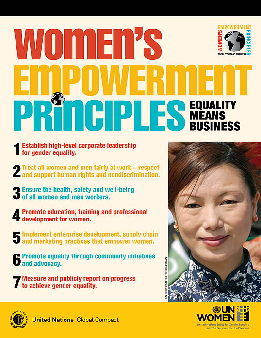 Women's Empowerment Principles / United Nations Global Compact