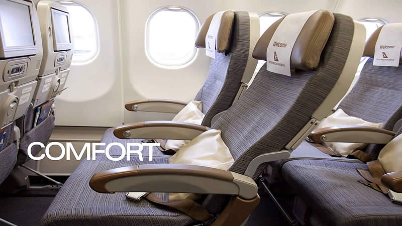 In-flight experience - South African Airways