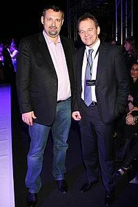 Alexander Shumsky (general producer MBFWR) and Yurgen Zauer (general director Mercedes-Benz)