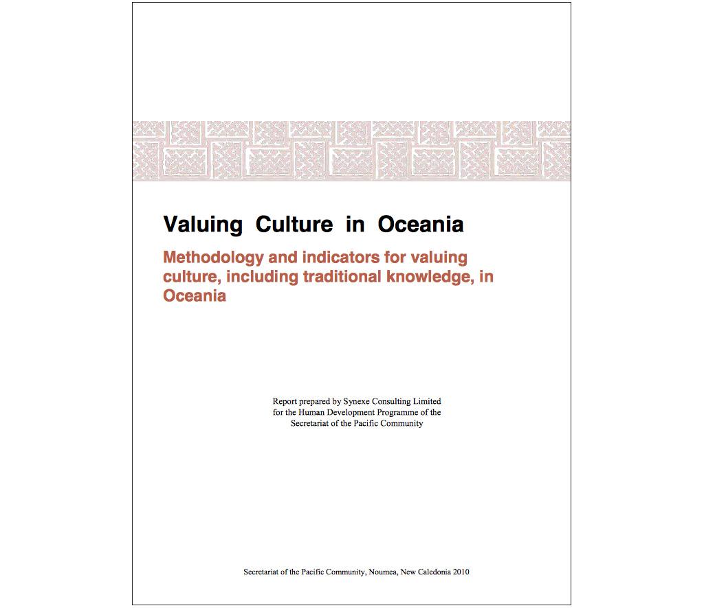 Valuing Culture in Oceania report