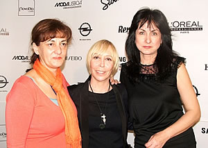 Mrs. Eduarda ABBONDANZA during the 42nd Lisbon Fashion Week, along with Ms. Nadya VALEVA /on the right/, President of the European Fashion Council and the National Fashion Chamber of Bulgaria, and Mrs. Svetlana HORVAT /on the left/, President of the National Fashion Chamber of Serbia and representative of Serbia in the European Fashion Council
