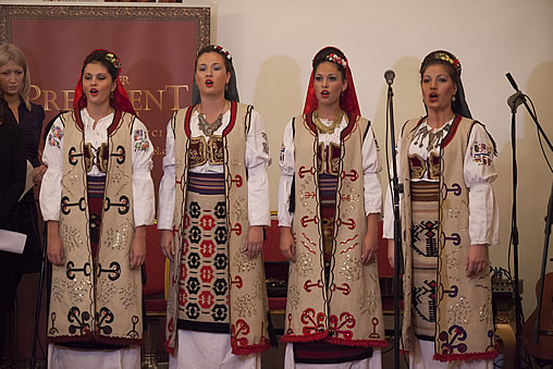 Authentic Serbian clothing national style