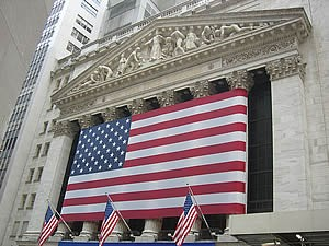Wall Street and the New York Stock Exchange, the world's largest bourse by dollar volume