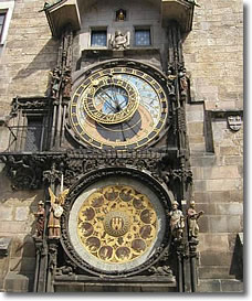 The Prague Astronomical Clock or Prague Orloj is a medieval astronomical clock located in Prague, the capital of the Czech Republic.