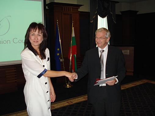 Nadya Valeva and His Exc. Michael Humphreys, European Fashion Council