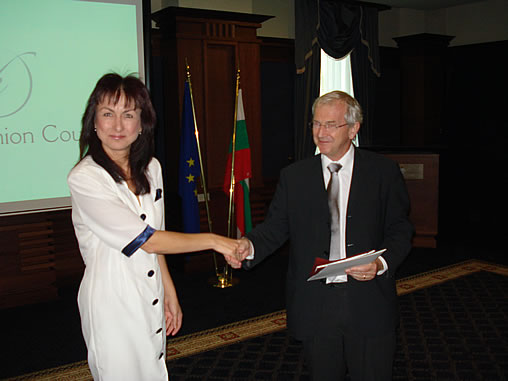 Nadya Valeva and His Exc. Michael Humphreys, European Fashion Council